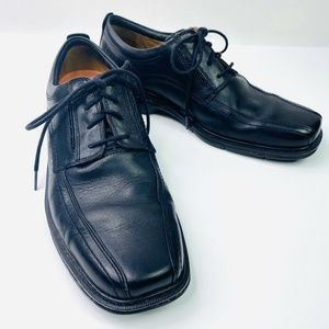 Clarks Unstructured Oxfords Black Leather 10.5 N